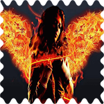 Girl with fiery wings Live WP APK Image