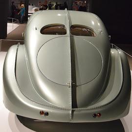 1935 Bugatti Aerolithe (Back) by Ada Irizarry-Montalvo - Transportation Automobiles