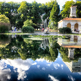 Garden by Abdul Rehman - Instagram & Mobile iPhone ( clouds, uk, reflection, hyde park, london, garden,  )