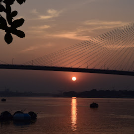 sunset, kolkata, INDIA by Sukamal Biswas - Landscapes Waterscapes (  )