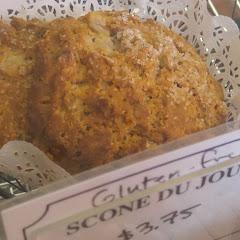 Delicious gluten-free pear pecan scone