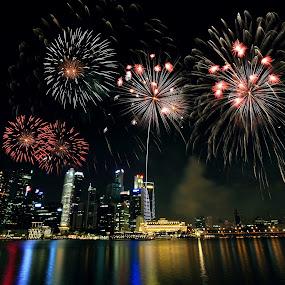 NDP 2012 Rehearsal Firework by Alit  Apriyana - City,  Street & Park  Vistas