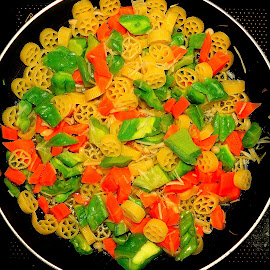 Vegetarian pasta by Francois Wolfaardt - Food & Drink Plated Food ( vegetables, healthy, vegetarian, pasta, meal )