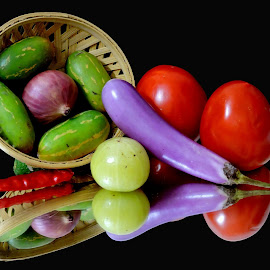 Brinjal time by SANGEETA MENA  - Food & Drink Ingredients