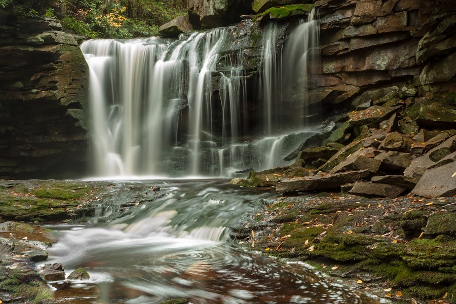 Tanic by Kevin Frick - Landscapes Waterscapes ( tanic acid, west virginia, waterfall, water fall )