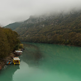 Visegrad, Bosna & Hercegovina by Jeni Davranova - Landscapes Travel ( amazing, drina, emerald, green, boats, bosnaandhercegovina, river, #travel )
