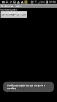 Screenshot of Sim Number