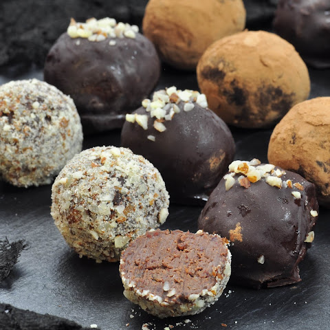 Dark Chocolate Truffles With Miso (and Kidney Beans)
