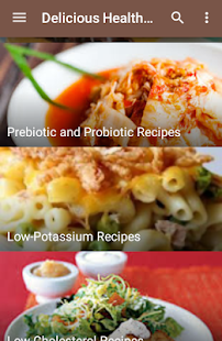 Delicious Healthy Food Recipes - screenshot