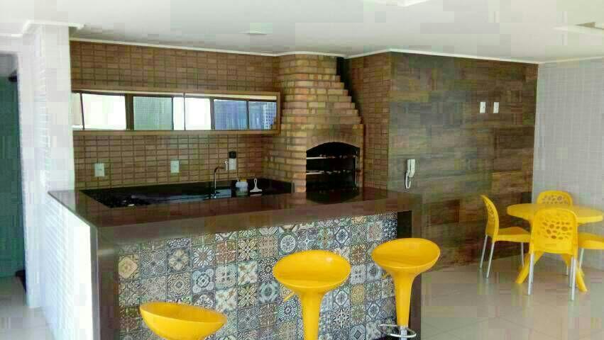 Flat com 1 dormitório para alugar, 32 m² por R$ 1.500,00/mês - Intermares - Cabedelo/PB