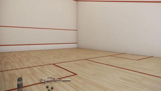 Perspectiva da Quadra de Squash