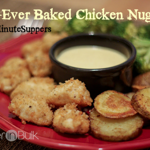 Best-Ever Baked Chicken Nuggets #15MinuteSuppers