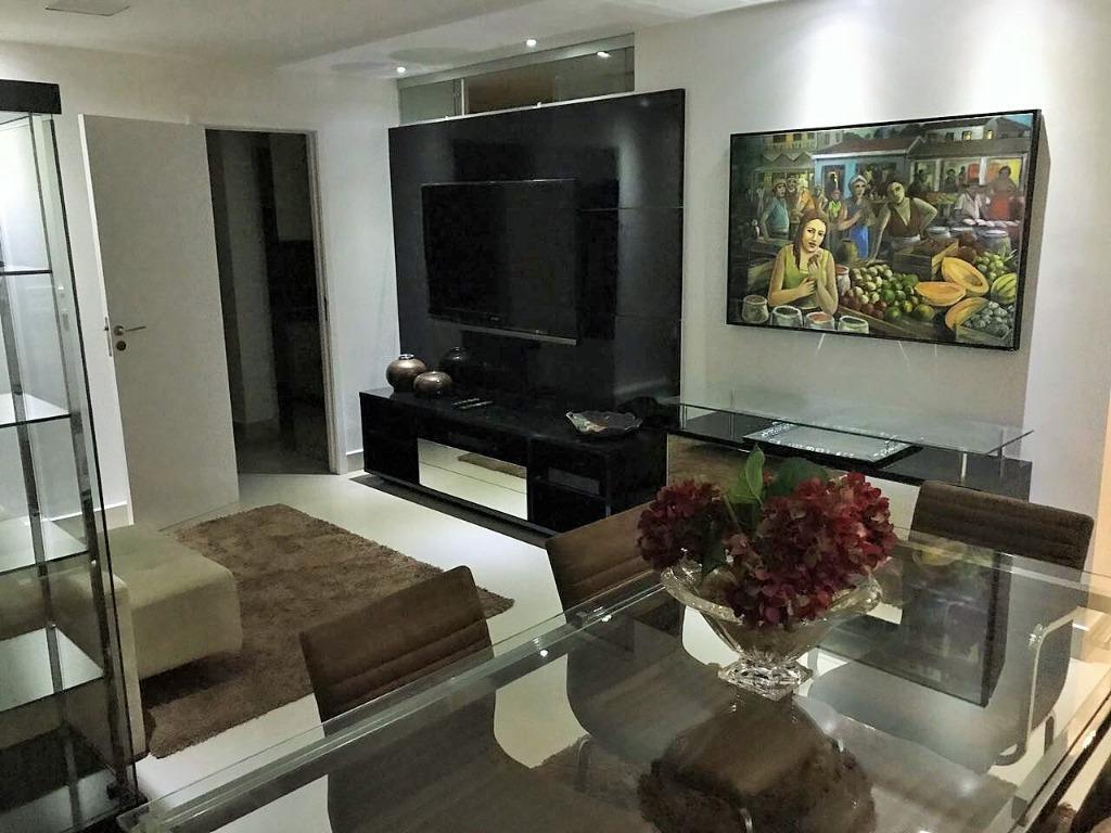Apartamento com 2 dormitórios para alugar, 69 m² por R$ 3.200/mês - Tambaú - João Pessoa/PB