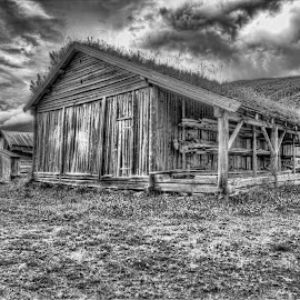 Old boathouse by Benny Høynes - Buildings & Architecture Decaying & Abandoned ( canon, hdr, black and white, vintage, norway )