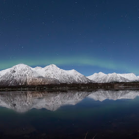water reflections by Benny Høynes - Landscapes Waterscapes ( winter, auroras, waterscape, northernlights, norway )
