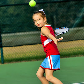 Tennis Girl by Sylvester Fourroux - Sports & Fitness Tennis