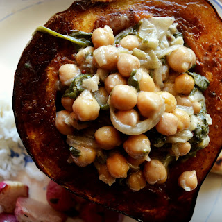 Meatless Monday - Coconut Chickpea Stuffed Acorn Squash
