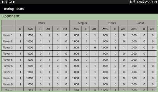 Dartball Statistician screenshot 11