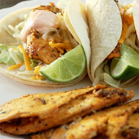 Grilled Fish Tacos with Sriracha Sour Cream