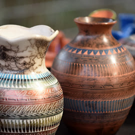 Indian Pottery  by Lorraine D.  Heaney - Artistic Objects Still Life