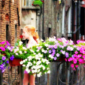 Innocence by Dhannya Jacob - People High School Seniors ( rose, dream, street, venice, innocence, kids, beauty, flowers, italy, colours )