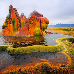 Fly Geyser by Dan Pham - Landscapes Mountains & Hills