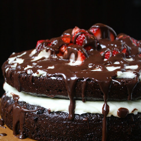Strawberry Chocolate Ganache Layer Cake