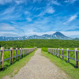 Country Road by Crispin Lee - Landscapes Mountains & Hills