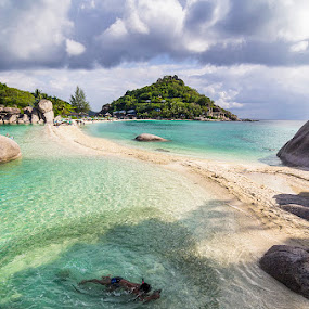 Swimming with fishes by Luca Rosacuta - Landscapes Beaches ( nature, thailand, sea, beach, landscape )