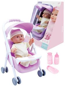 """Пупс """"Anna De Wailly"""" Семен 24см, с коляской, фиолетовый"""