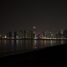Doha City skyline from a different side by Anthony Schwab - Buildings & Architecture Other Exteriors ( cities skylines, doha, qatar )