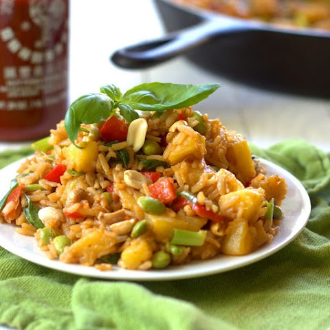 Pineapple Fried Rice with Basil & Peanuts