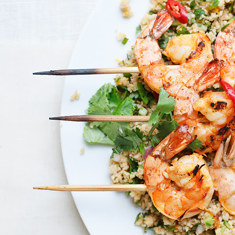 Citrus Chili Grilled Shrimp with Herbed Couscous