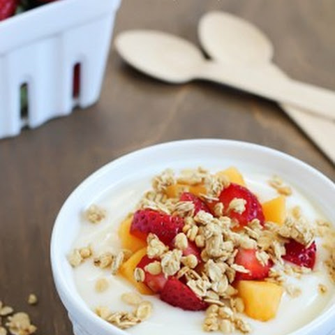Fruit, Yogurt & Granola Parfait - Easy Breakfast or Snack!