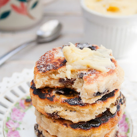 Lemon Welsh Cakes with Honey Ginger Whipped Butter