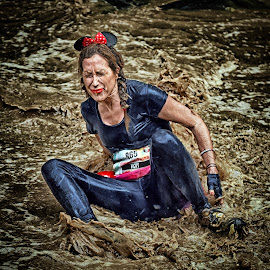Peevish Daisy Vicky by Marco Bertamé - Sports & Fitness Other Sports ( water, vicky, 865, differdange, 2015, daisy, eyes closed, number, soup, luxembourg, sitting, mud, strong, woman, dirty, lady, brown, strongmanrun )