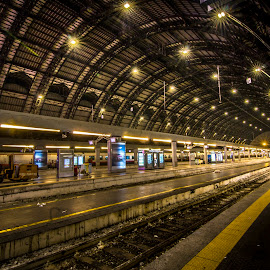 Milan Railway Station by Charles Ong - Transportation Railway Tracks