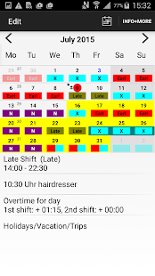 Roster-Calendar screenshot for Android