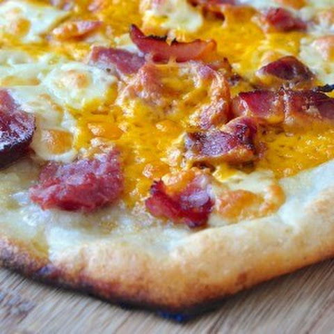 Thin Crust Ham and Cheese Pizza