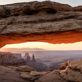 Mesa Arch at sunrise by Ferruccio Galbiati - Landscapes Caves & Formations ( utah, canyon, nature photography, sunrise, landscape, canyonlands national park, travel photography )