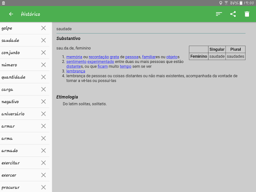 Portuguese Dictionary Offline screenshot 13
