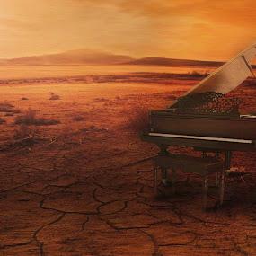 alone piano...... by Dyaz Afryanto - Digital Art Things