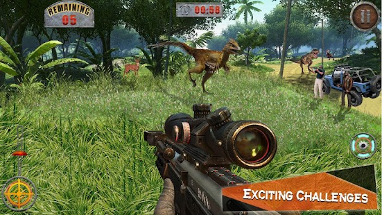 Dino Hunting Kill Safari Sniper Shoot