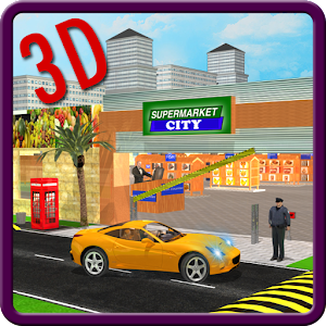 Drive through Supermarket 3D Icon