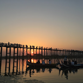 U Pain Bridge Mandalay Myanmar by Saw Pyae - Buildings & Architecture Bridges & Suspended Structures