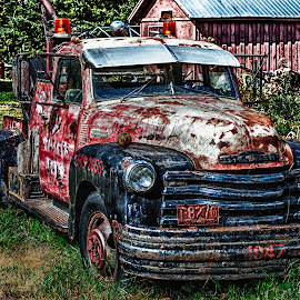 1947 Chevrolet Tow Truck by Dave Lipchen - Transportation Automobiles ( tow truck, truck, 1947 chevrolet tow truck, chevy )