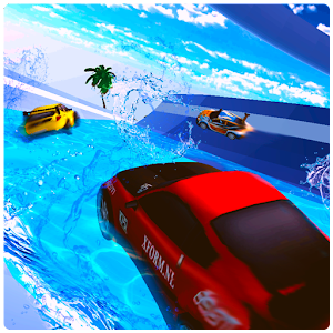 Water Surfing Car - Waterpark Stunts For PC / Windows 7/8/10 / Mac – Free Download