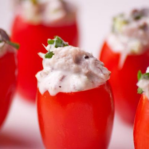 Tuna Stuffed Cherry Tomatoes