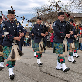 Hometown March of the Tartans by Garry Dosa - People Street & Candids ( music, kilts, marching, bagpipes, celebration, remembrance day, people )