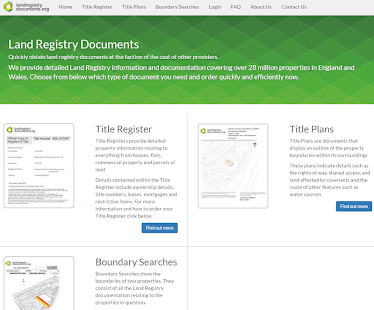 UK Land Registry Documents - screenshot